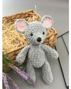 """В'язана іграшка ручної роботи """"Мишка"""", Кольорові петельки"""