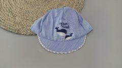 Літня кепка для хлопчика (сірий козирок), Мамина мода Б002