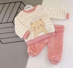 Плюшевий комплект для дівчинки (рожевий), Necix's 4656