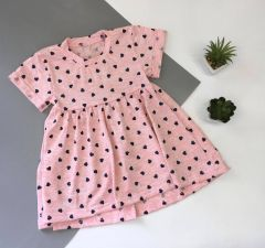 Трикотажне плаття для дівчинки (рожевий меланж), Мамине чадо 05-78