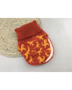 Трикотажна манішка з флісовою підкладкою для дитини (теракотова), Talvi 01487