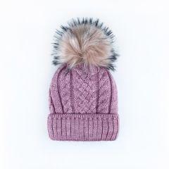 Трикотажна шапка для дитини (бузкова), Talvi 01385