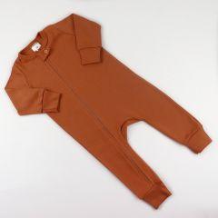 Трикотажний чоловічок з відкритими стопами (коричневий), Coolton