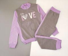 Трикотажний костюм для дівчинки (сірий) КС-338