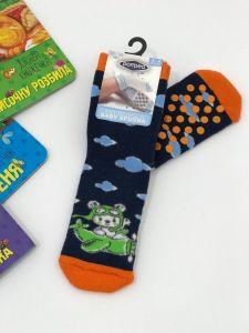 """Теплі шкарпетки для хлопчика """"Bear"""" (темно-синій), Pompea."""