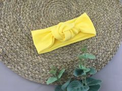 Трикотажна пов'язка для дівчинки (жовта), Talvi 0189