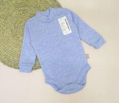 Трикотажний боді-гольф для дитини (блакитний меланж), 5ЛН017