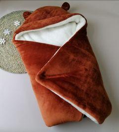 """Ковдра-конверт для новонароджених ,,Ведмежа"""" (коричневий), 11468"""