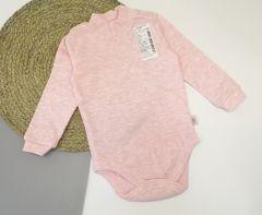 Трикотажний боді-гольф для дівчинки (рожевий меланж), 5ЛН017