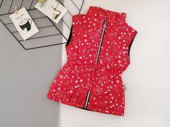 Стильный жилет для девочки (красный), Boni 190