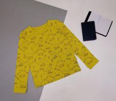 Трикотажний реглан для дитини (жовтий), КФ-732