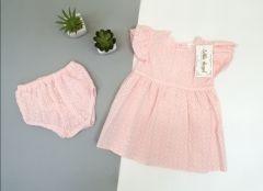 Трикотажный комплект для девочки (розовый), Little Angel 11431/11433