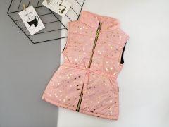 Стильный жилет для девочки (пудровый), Boni 190