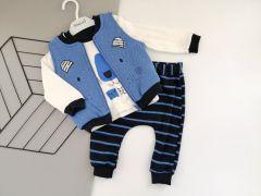 Комплект-трійка  для хлопчика (синій), Necix's 9227