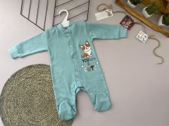 Трикотажний чоловічок для дитини (бірюзовий), Lotex 360-01