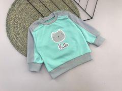 """Трикотажний кофта """"Котик"""" для дитини (бірюзова), Lotex 029-01"""