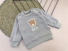 """Трикотажний кофта """"Медведик"""" для дитини (сіра), Lotex 029-01"""