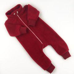 Флісовий чоловічок з відкритими стопами (червоний), Coolton