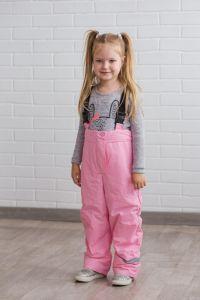 Зимние штаны на подтяжках для ребенка (розовые), DC Kids