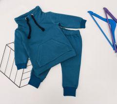 Трикотажний комплект з флісовою байкою для дитини (ізумрудний), КЗТФ144