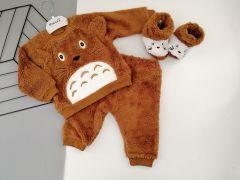 Плюшевий комплект-трійка для дитини (коричневий), Necix's 4672