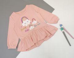 Трикотажна кофта для дівчинки (світло-рожева), КФ-726