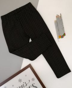 Трикотажні лосини з плюшевою підкладкою для дівчинки (чорні), Ля-ля 10ТФ122