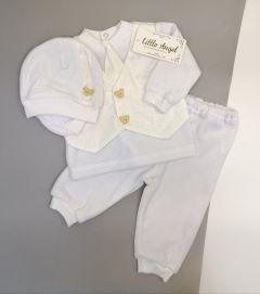 Святковий комплект для хлопчика (молочний), Little Angel 10471/11200