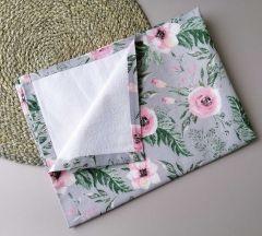 Пеленка непромокаюча, сіра (квіти), 10885