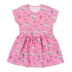 Трикотажне плаття для дівчинки (рожеве), 15СК124