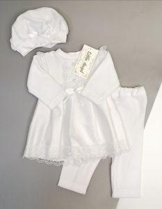 Святковий велюровий комплект для дівчинки (білий), Little Angel 10997