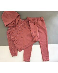 Трикотажний костюм з махровою ниткою для дівчинки (рожевий), Robinzone КС-438