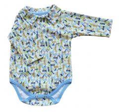 Трикотажне сорочка-боді для хлопчика, BPD180201 BODIK