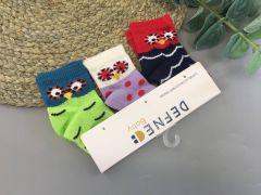"""Набір шкарпеток для дитини """"сови"""" (3 шт.),   Defne 10556"""
