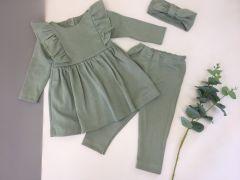 Трикотажний комплект для дівчинки (хакі), Little Angel 113