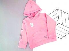 Трикотажне худі для дитини з флісовою байкою (рожеве), Lotex 410-18