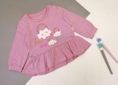 Трикотажна кофта для дівчинки (рожева), КФ-726