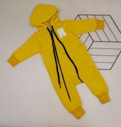 Трикотажний чоловічок з флісовою байкою для дитини (жовтий), Мамине чадо 102-25