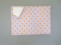 Пеленка непромокаюча (сіра з лисичкою), 11032