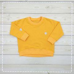 Трикотажний світшот для дівчинки (жовтий), 103303/3-19