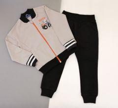 Костюм для мальчика темно-серый (светло-серый с черным), КС-381