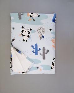 Пеленка непромокаюча (світло-голуба з пандами), 11032