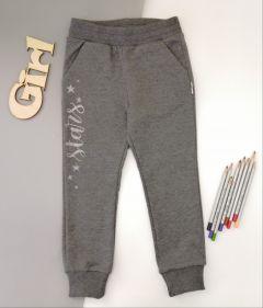 Трикотажні штани для дівчинки (сірий меланж) ШТ-240