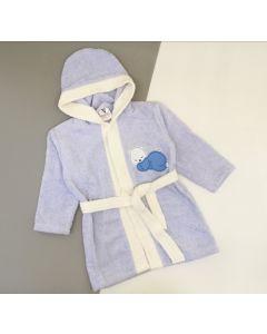 Махровий халат для дитини (блакитний), 354 Minilori Baby