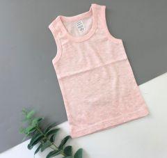 Трикотажна майка для дитини (рожевий меланж), 4БК108