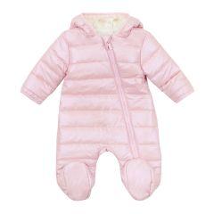 Теплий комбінезон з капюшоном для дитини (світло-рожевий), 8ПЛ066