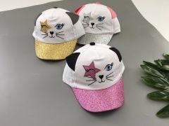 Літня кепка для дівчинки 1 шт. (срібляста), Kitti 1100-10