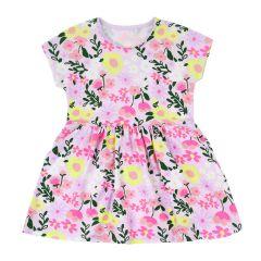 Трикотажне плаття для дівчинки (світло-бузкова), 15СК124
