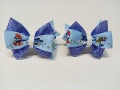 Красивий набір резинок для волосся Смурфики/The Smurfs, ручна робота