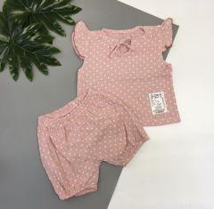 Мусліновий комплект для дівчинки (рожевий), Мамине чадо 31-406
